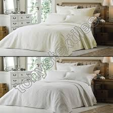 Ivory Quilted Bedspread Luxury Embroidered Ivory Cream White Quilted Bedspread Bed Quilt