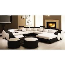 canapé panoramique en cuir canapé panoramique cuir blanc et noir roma achat vente canapé