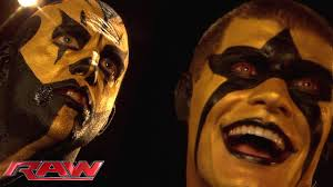 stardust puts the finishing touch on goldust u0027s face paint raw