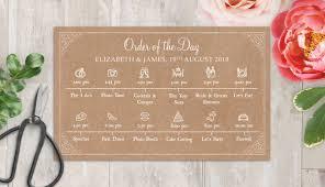 rustic kraft wedding timeline cards from 1 00 each
