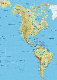 Map Of United States Physical Features by America Physical Map U2022 Mapsof Net