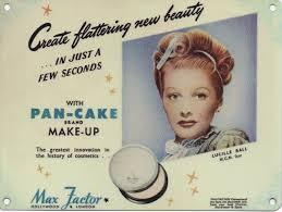 Lucille Ball No Makeup by Max Factor Pan Cake Make Up Lucille Ball Nostalgic Vintage Retro