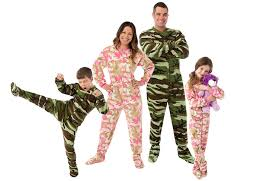 big pjs big pink camo footed pajamas