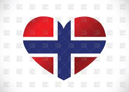 Flag Of Norway Heart Shaped Norway Flag Royalty Free Vector Clip Art Image 68121