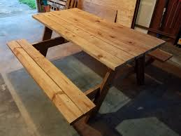 Build Wooden Picnic Table by Built A Picnic Table From Reclaimed Wood From Shed Album On Imgur