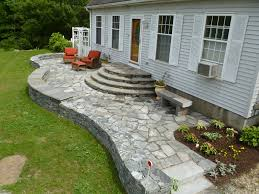 Nice Patio Ideas by Nice Patio Rounded Steps Leading From Back Door Outdoor Places