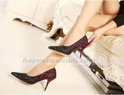 wedding shoes korea fashion sequins korea style princess root heels