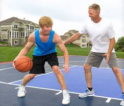 How Much Does A Backyard Basketball Court Cost Backyard Courts Gym Flooring And More Snapsports