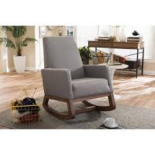 Chair Rocking By Itself Contemporary Grey Fabric Rocking Chair By Baxton Studio Free