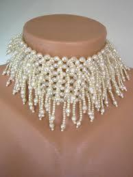 choker necklace wedding vintage images Pearl choker bridal statement necklace pearl necklace wedding jpg