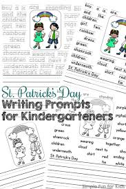 st patrick u0027s day writing prompts for kindergarteners simple fun
