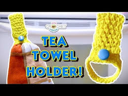 pattern crochet towel holder tea towel holder moss stitch crochet pattern youtube