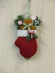 moose in mitten ornament primitive winter