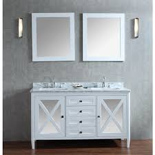 60 Bathroom Vanity Double Sink White by Ace Summit 60 Inch White Finish Double Sink Bathroom Vanity Set