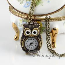 pocket watch necklace wholesale images Brass antique style owl pocket watch pendant long chain necklaces jpg