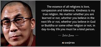 dalai lama quote the essence of all religions is compassion