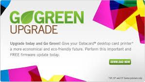 design logo go green datacard go green upgrade card printer firmware update