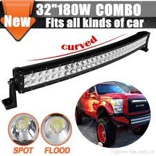 Led Light Bar Driving Lights by 32 180w Curved Led Light Bar For Offroad Work Fog Driving Lamp