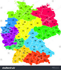 Zip Code Mapping by German Map Spatial Data For Postal Code Regions Germany Adac