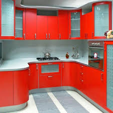 kitchen ideas small corner red black gray kitchen design l