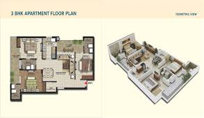 3bhk apartment floor plan metrotowers