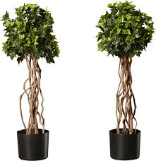 artificial topiary tree in pot reviews birch