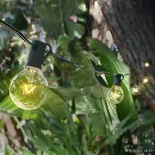 cheap g40 globe string lights with 25 clear bulbs string lights