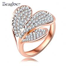 aliexpress buy beagloer new arrival ring gold beagloer unique new fashion ring gold color with austrian