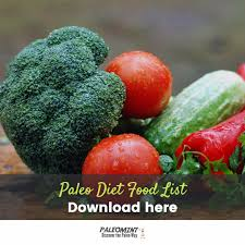 the paleo diet food list printable pdf of foods allowed and not