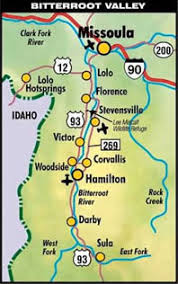 bitterroot mountains map small charming towns of the bitterroot valley bitterroot cabins