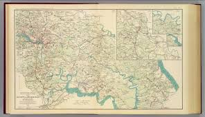 Map Of Richmond Va Vicinity Richmond Va Peninsula David Rumsey Historical Map