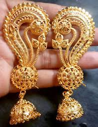 jhumka earrings gold 22k gold plated indian ear earrings with jhumka gorgeous