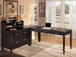 Inexpensive L Shaped Desks Office L Shaped Desks For Home Office In Black Plus Drawers For