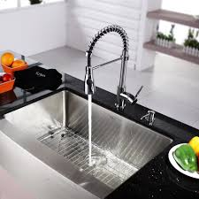 industrial kitchen faucets stainless steel kitchen bridge faucets with pull sprayer tags 53 awesome