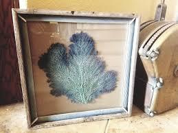 Reclaimed Wood Home Decor Ombre Sea Fan Rustic Weathered Reclaimed Wood Frame Coastal Home
