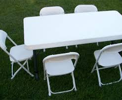 White Plastic Table Party Packages White Knight Party Rentals