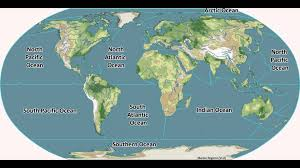 Map Of The Oceans Learn 5 Oceans Of The Earth Quick Guide Youtube