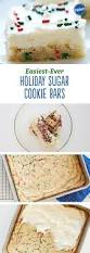 Easiest Ever Holiday Sugar Cookie Bars Recipe
