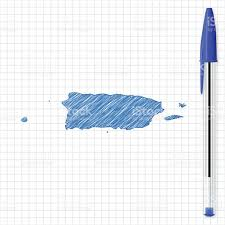 Puerto Rico Island Map by Puerto Rico Map Sketch On Grid Paper Blue Pen Stock Vector Art