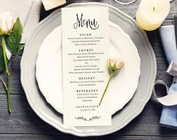 wedding menu templates bon appetit wedding menu templates editable wedding menu