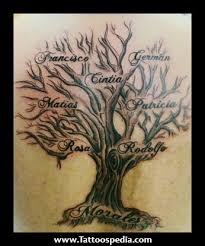 family tree tattoos with names