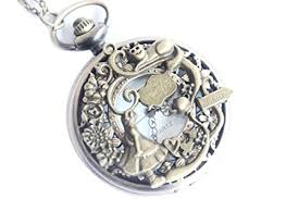pocket watch chain necklace images Alice in wonderland pocket watch pendant necklace alice in jpg