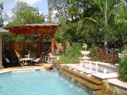 small backyard pool landscaping ideas lawn garden backyard pool idea with outdoor kitchen in front