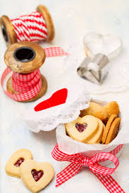 homemade heart shaped jam cookies in gift box ideas for gifts