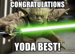 Meme Generator Yoda - congratulations yoda best congrats yoda meme generator