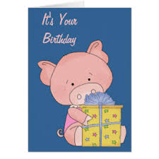 mini pig greeting cards zazzle