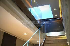 glass railing aluminum glass panel outdoor ninfa led by