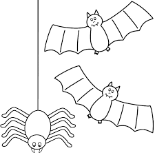 halloween spider images coloring free download