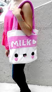 milk tote bag schoolbag backpack bookbag reusable bag