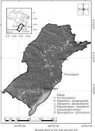 Parana River Map New Approach For The Study Of Paleofloras Using Geographical